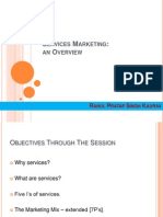 Services Marketing - An Overview