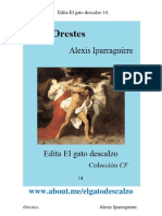 Edita El Gato Descalzo 14. Orestes. Alexis Iparraguirre