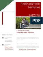 Robin Bertram Ministries Fall-Winter 2008 Newsletter