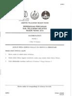 Trial Mathematics Spm Perak 2012 Paper 1
