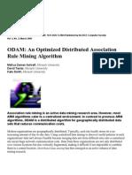 9. ODAM an Optimized Distributed Association Rule Mining Algorithm