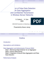 22. Integration of False Data Detection With Data Aggregation and Confidential Transmission in Wireless Sensor Networks