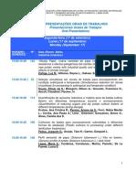 XXV Congreso de la Asociación Latinoamericana de la Papa - Uberlandia, Brasil, 17-20 de septiembre de 2012 (Listado de ponencias y pósteres)