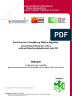 Curso Participación Ciudadana y Medios Digitales - Modulo I. La Democracia Marchita