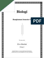 Biologi Rangkuman Semester II Kelas XI