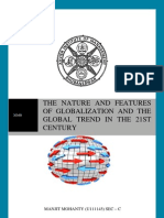 Nature and Features of Globalization and Globalizing Trends