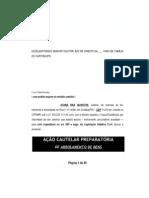 Modelo de Petição _ Ação Cautelar de Arrolamento Bens União Estável