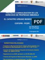 Proyecto Consolidacion de Los Derechos de Propiedad Inmueble Cofopri