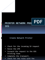 Printer Network Process in IES