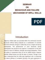 Behaviour and failure mechanism of infill walls