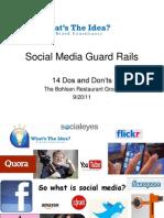 Social Media Guard Rails 092011