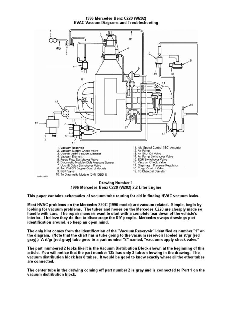 mercedes hvac diagram wiring diagram for light switch \u2022 mercedes front suspension diagram hvac vacuum problems vacuum tube leak rh scribd com basic hvac system diagram commercial hvac diagram