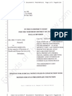 TX - TvS - 2012-08-31 - ECF 8 - Request for Judicial Notice