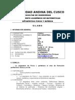 Silabo de Fisica i (Ing. Ind) 2012 - II