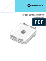 Motorola Solutions AP6521 Access Point Installation Guide (Part No. 72E-155456-01 Rev. a) 15545601a