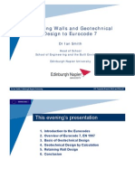 Retaining Walls and Geotechnical Design to Eurocode 7