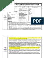 Curriculum MAP Math Grade 8 2012-2013