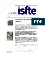 ISfTE Newsletter 33 Aug 2012