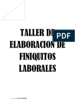 Elaboracion de Finiquitos Laborales