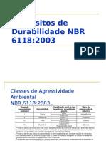 Requisitos de Durabilidade NBR 6118