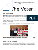 San Marcos LWV Voter Fall 2012