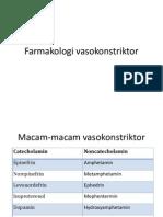 Farmakologi vasokonstriktor