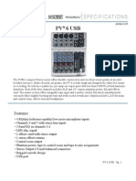 PV 6 USB Spec Sheet
