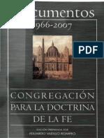 Congregacion Para La Doctrina de La Fe - Documentos 1966_ 2007