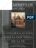 Congregacion Para La Doctrina de La Fe - Documentos 1966_ 2007