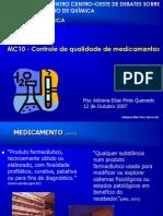 Controle de Qualidade Medicamentos