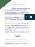 Desarrollo Psicológico del Niño de 0 a 1 años