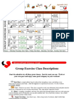 September 2012 Group Fitness Schedule