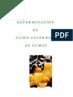 Determinacion Acido Ascorbico en Zumos