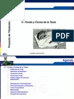 Cap v Proyecto de Titulacion Planificacion Fondo y Forma 2011 Ver 0.0.7 A