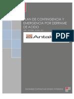 Plan de Contigencia y Emergencia Por Derrame de Acido-s.c.m. Antakena-dpr-pcyeda-scma-012