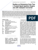 Comparative Studies on Emissions From Two Stroke Copper Coated Spark Ignition Engine With Alcohols With Catalytic Converter