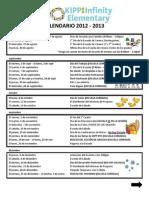 KIES Calendario 2012-2013 Families Espanol