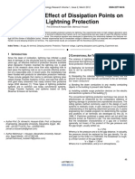 Study of the Effect of Dissipation Points on the Lightning Protection