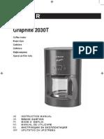 Cafetiera Graphite 2030T