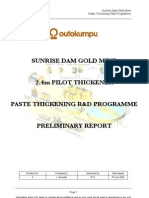 2.4m Thickener Preliminary Report Rev0