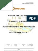 2.4m Thickener Preliminary Report Rev0