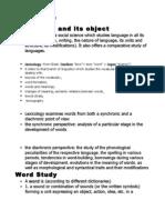 Lexicology I