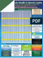 HJM September-2012 Timetable