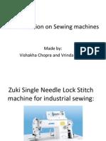 Presentation on Sewing Machines