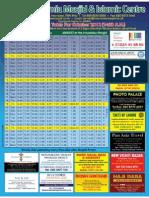 HJM October 2012 Timetable