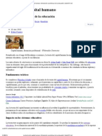 La teoría del capital humano_ Dimensión económica de la educación _ Suite101