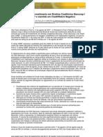 Rating do Fundo de Investimento em Direitos Creditórios Bancoop Irebaixado para brBBf e mantido em CreditWatch Negativo 03 08 2007