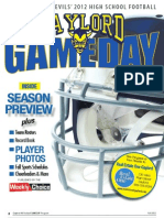 Gaylord Game Day Football 2012