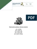 4JH2 Yanmar Parts Catalog Y00R3512 000Y00R3512