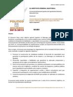 Concurso Nacional de Organizaciones de la Sociedad Civil para impulsar el liderazgo político de las mujeres 2012-2013